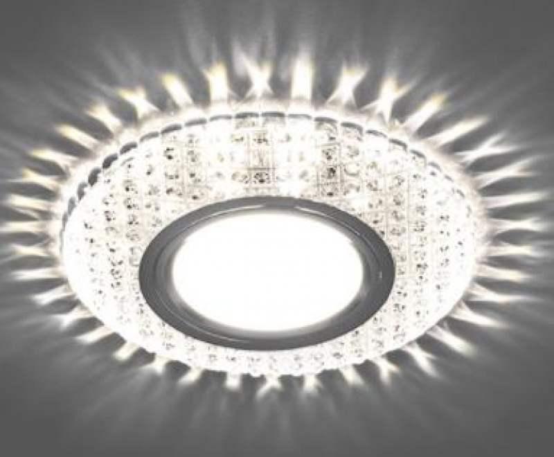 Светильник встраиваемый с белой LED подсветкой Feron CD913 потолочный MR16 G5.3 прозрачный