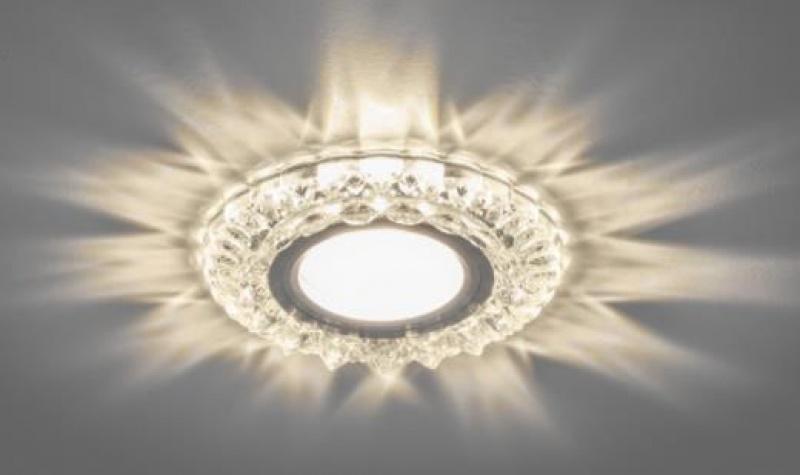 Светильник встраиваемый с белой LED подсветкой Feron CD925 потолочный MR16 G5.3 прозрачный