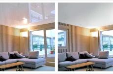 Глянцевый натяжной потолок — для любого интерьера