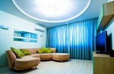 Натяжной потолок двухуровневый фото примеры