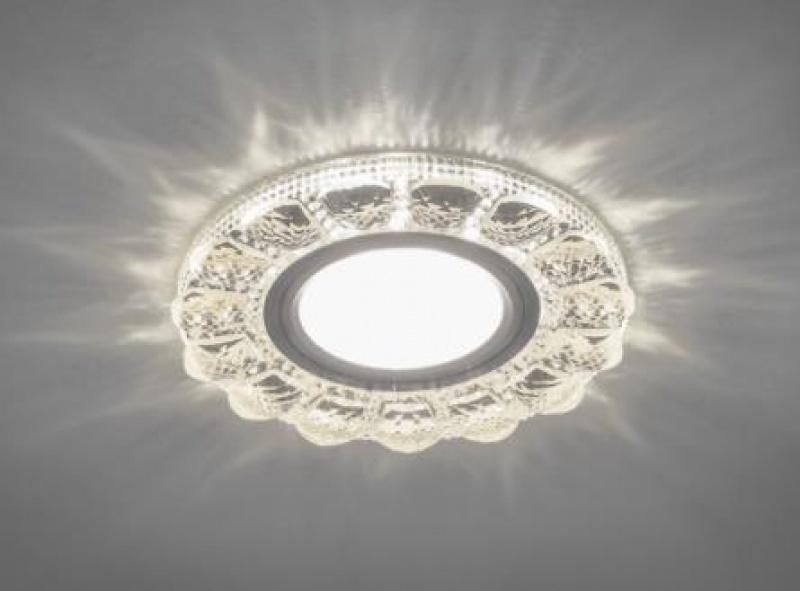 Светильник встраиваемый с белой LED подсветкой Feron CD912 потолочный MR16 G5.3 прозрачный