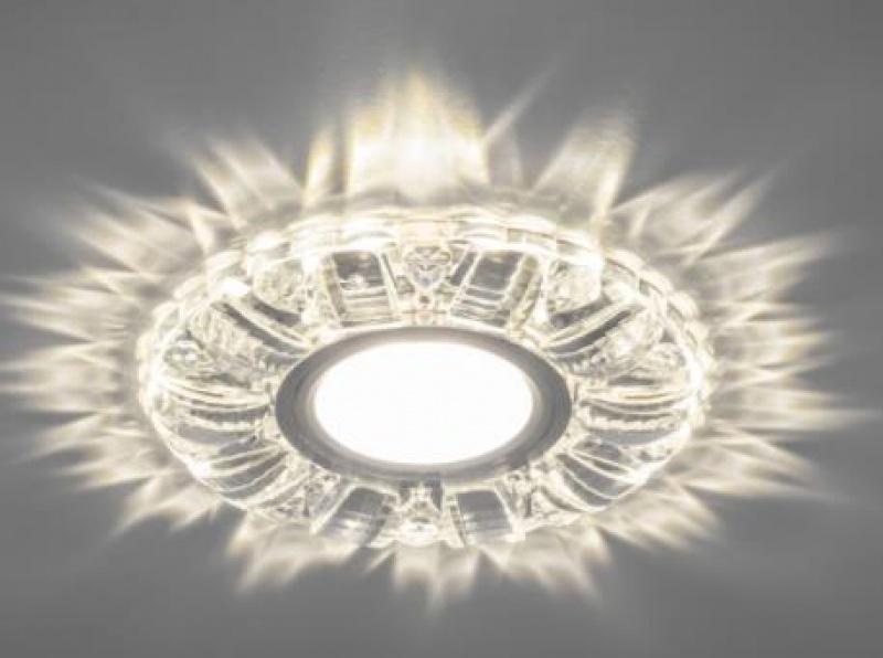 Светильник встраиваемый с белой LED подсветкой Feron CD921 потолочный MR16 G5.3 прозрачный