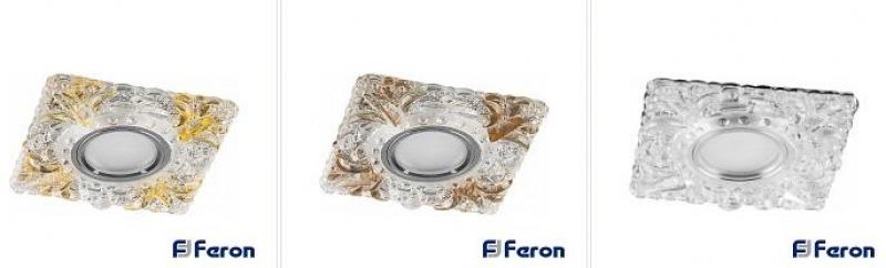 Светильник встраиваемый с белой LED подсветкой Feron CD920 потолочный MR16 G5.3