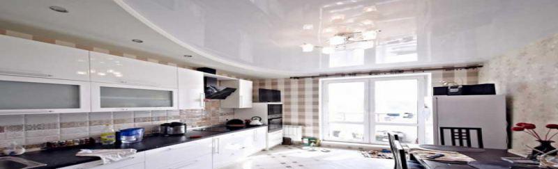 Скидка на натяжной потолок в кухню