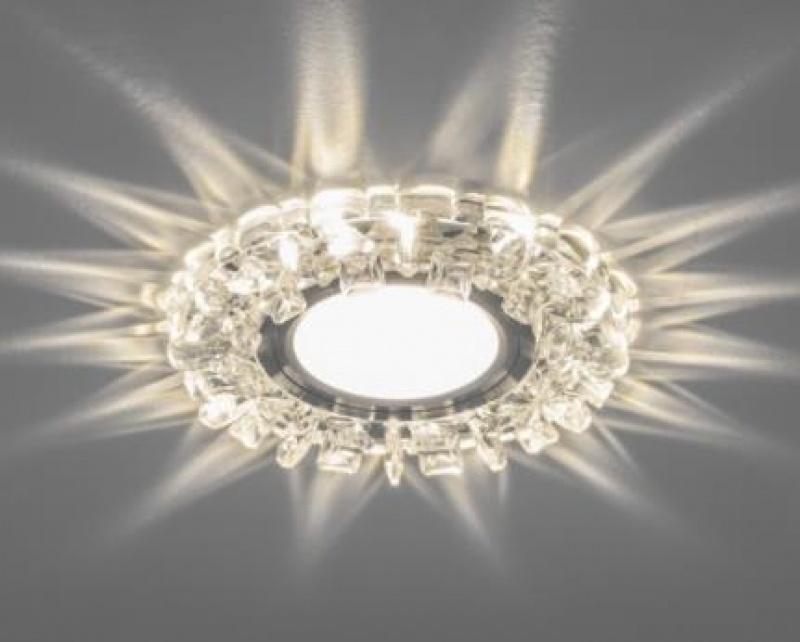 Светильник встраиваемый с белой LED подсветкой Feron CD927 потолочный MR16 G5.3 прозрачный