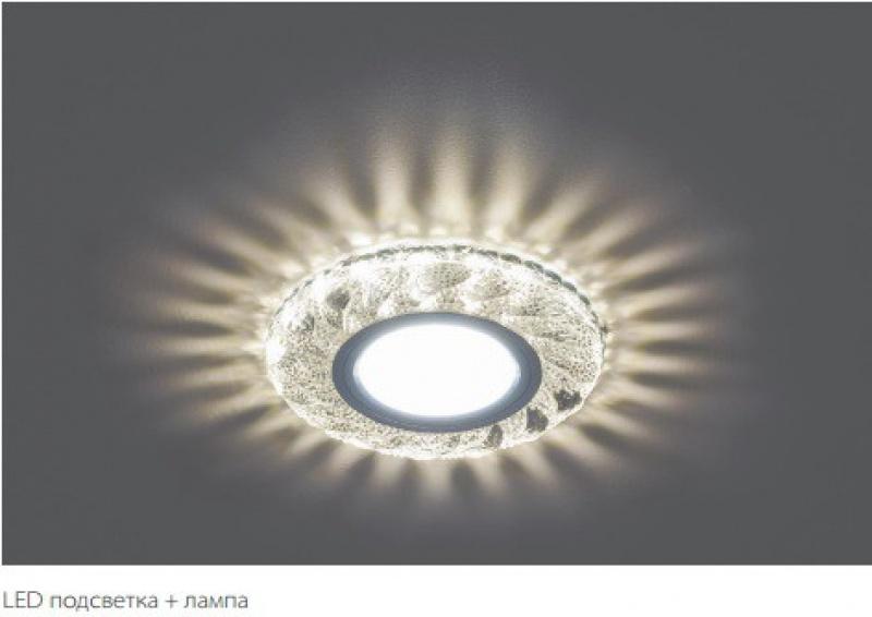 Светильник встраиваемый с белой LED подсветкой Feron CD907 потолочный MR16 G5.3 белый купить минск