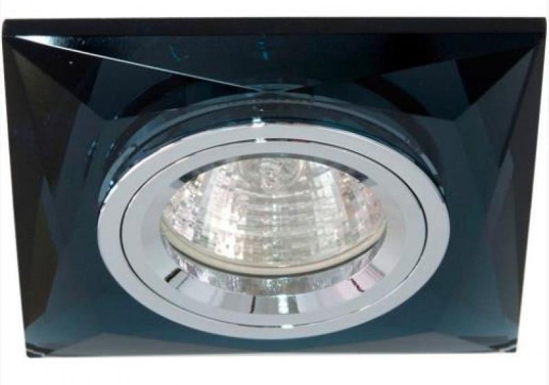 Светильник потолочный 8150-2 черный квадрат MR16 50W G5.3