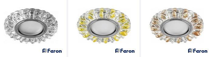 cd916-feron Светильник встраиваемый с белой LED подсветкой Feron CD916