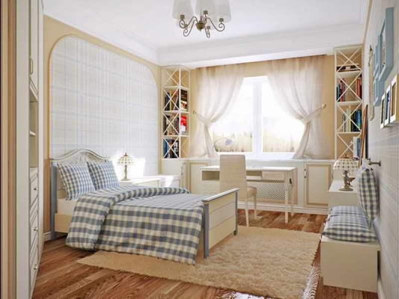 белый натяжной потолок в спальню Минск