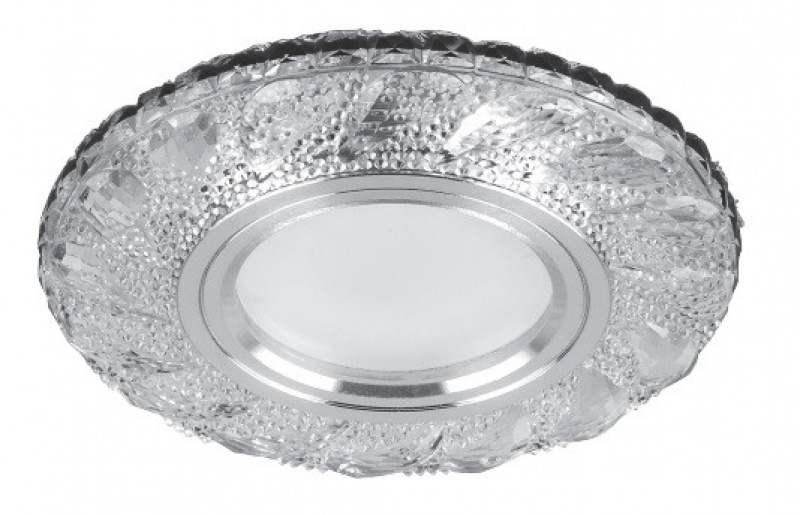 Светильник встраиваемый с белой LED подсветкой Feron CD907 потолочный MR16 G5.3 белый минск