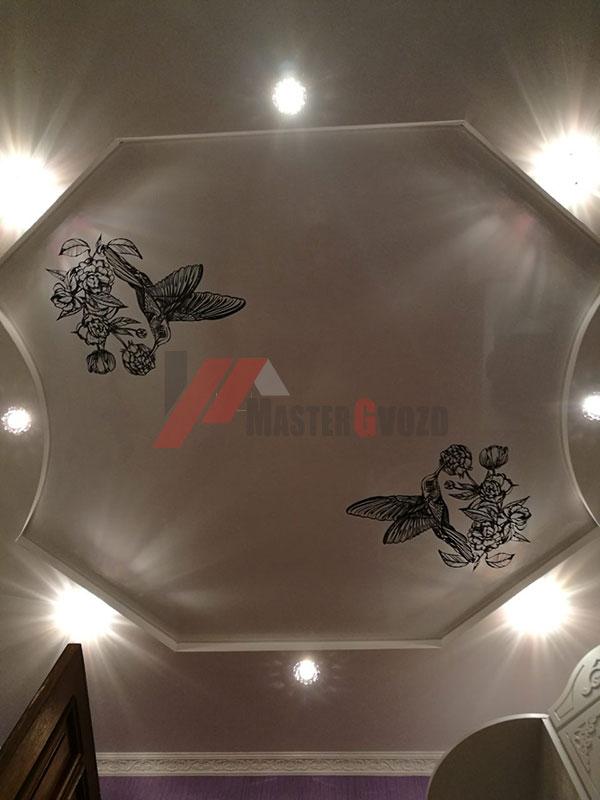 Натяжные потолки картинки в интерьере